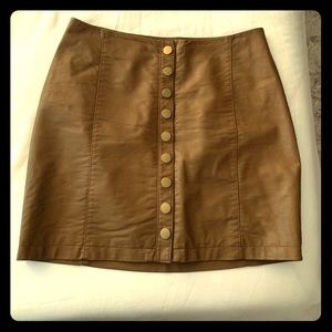 Free People Faux Leather Skirt size 4